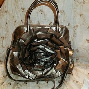 LIKE NEW Big Buddha Large Bronze Flower Bag